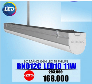 Đèn led Batten BN012C LED10/CW L600-Philips